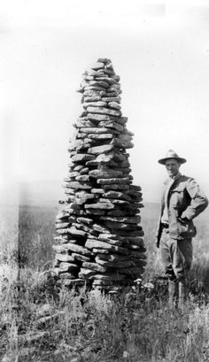 """1909, """"Sheepherder's Sandstone Monument,"""" in Cascade County, Montana."""