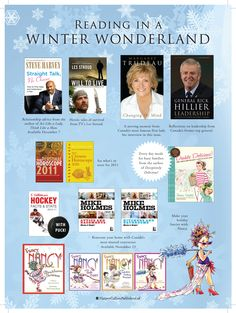 Reading in a winter wonderland for Costco Winter 2010 Newsletter.