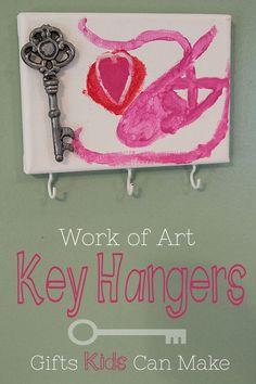DIY Christmas Gifts Kids Can Make Key Hangers