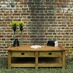 Reclaimed Cypress Mission Coffee Table by TheBuiltCompany on Etsy, $589.00