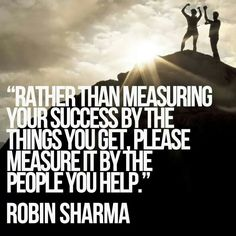 Success = Helping people