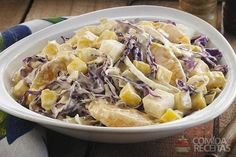 Receita de Salada de repolho com frutas - Comida e Receitas