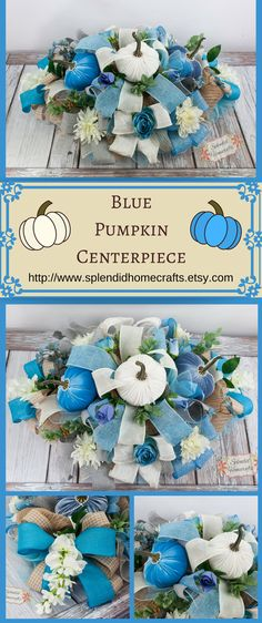 New baby shower table blue shabby chic ideas Diy Baby Shower Centerpieces, Blue Wedding Centerpieces, Baby Shower Table Decorations, Pumpkin Centerpieces, Rustic Wedding Centerpieces, Wedding Table, Wedding Ideas, Trendy Wedding, Diy Centerpieces