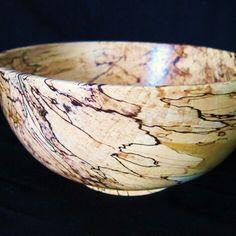 Large spalted maple salad bowl I turned on my lathe. Willow Vale woodturning