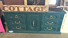 Dark Teal Dresser | Junque in the Trunk Waco | Queen of Everything