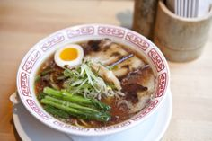 25 best ramen dishes: NYC's top Japanese noodles. Ganso ramen at Ganso Broth: Shoyu (soy sauce) Noodles: Straight and thin Toppings: Slow-braised pork two ways, ajitama egg, menma (braised bamboo shoots) and seasonal greens 25 Bond St at Livingston St, Downtown Brooklyn (718-403-0900, gansonyc.com). $12.