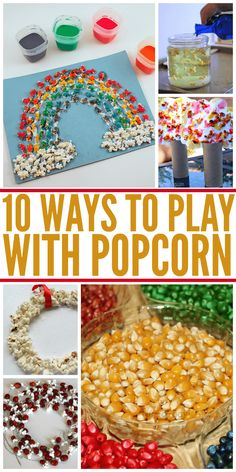 10 Ways To Play With Popcorn Crafts Theme Sensory Activities