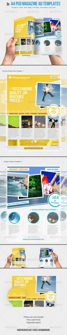 2x A4 Magazine Ad Template Vol.1  - GraphicRiver Item for Sale