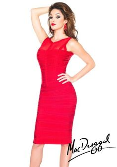 MacDuggal Homecoming Cocktail Dress 40334R at Peaches Boutique