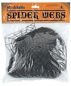 Black Spider Webs - CostumePub.com Spider Decorations, Scary Halloween Decorations, Mens Spiderman Costume, Spiderman Party Supplies, Black Spider, Spider Webs, Amazing Spider, Makeup Kit, Adult Costumes