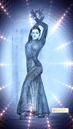 Flamenco dancer charcoal pencil sketch Dancer Drawing, Flamenco Dancers, Dance Poses, Contemporary Dance, Charcoal Drawing, Original Artwork, Sketch, Pencil, The Originals