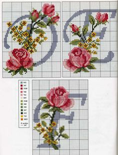 Cross stitch with roses (bbj3001) 4,5 & 6/26