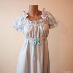 XS petite Regency Dress Sky Baby Blue Jane by FolkloreFashions
