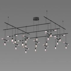"Suspenders 48"" 2-Tier Grid Suspension Light"
