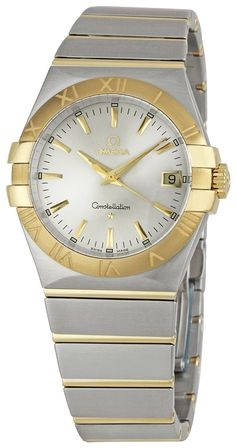 Omega Women's 123.20.35.60.02.002 Constellation Quartz Two Tone Watch, (watches, omega, womens watches, metal banded, swiss quartz, omega constellation 126275, dress watches, omega watch)