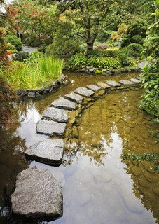 Rain Harvesting Into Soil Instead Of Rainwater Barrel. This awesome pond holds way more water than a rainwater barrel Permaculture, Rain Garden Design, Water From Air, Rainwater Harvesting, Water Features In The Garden, Dream Garden, Backyard Landscaping, Backyard Stream, Garden Bridge