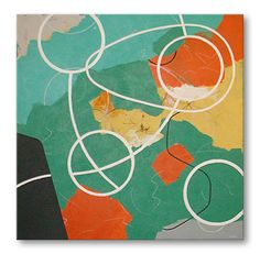 Organa - abstract painting by artist Bill O'Neil - on billoneil.com  #abstractpaintings #abstractart #retromodern
