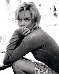 Charlize Theron Ruven Afanador Portrait Black & White