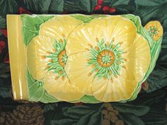 Australian design made in England 1930s Vintage Carlton Ware Buttercup Butter Dish