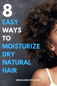 Read this article to learn 8 of the best ways to moisturize natural hair daily. These tips are easy to follow and contain DIY steps as well! Never have dry hair again after following these 8 tips! 4c Hair Friendly - as usual! How To Grow Your Hair Faster, How To Grow Natural Hair, Natural Hair Regimen, Grow Long Hair, Natural Hair Care, Natural Hair Styles, Hair Health And Beauty, Beauty Tips For Glowing Skin, Beauty Tips For Women