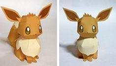 PAPERMAU: Pokemon - Eevee The Fox Paper Model - by Ten Pepakura