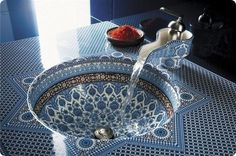 Morocco style sink ..luv it
