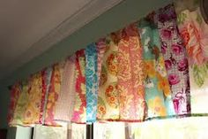 Patchwork curtains made from vintage linens - Google Search