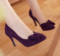 297cbbe7f9e9eb Women new fashion spring summer Pointed toe bow sweet solid color thin  8.5cm high-heeled heels pumps gladiator shoes