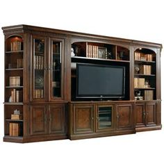 Shop for Hooker Furniture European Renaissance II Entertainment Console, and other Home Entertainment TV Stands at Carol House Furniture in Maryland Heights and Valley Park, MO. Entertainment Center Wall Unit, Entertainment Room, Hooker Furniture, Rustic Furniture, Layout Design, Console, Muebles Living, Library Wall, Renaissance