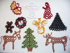 10 Christmas ornaments tatting by ShopGift on Etsy, $30.00