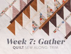 Gather Quilt Sew Along: Week 7: Trim - Suzy Quilts Longarm Quilting, Quilting Tips, Quilting Designs, Modern Quilt Patterns, Sewing Patterns, Triangle Quilt Pattern, Two Color Quilts, Quilt Batting, Quilt Top