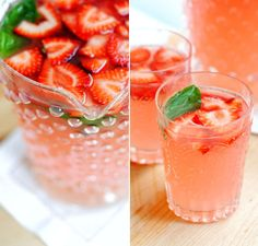 Strawberry Basil Margaritas #summer