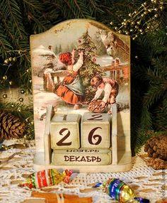 """Вечный календарь """"Merry Christmas"""" - Новый Год,новогодний подарок,новый год 2013"""
