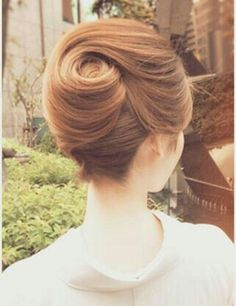 The perfect swirl french twist up dos for medium hair, hairdo for long hair, Hair Up Styles, Medium Hair Styles, Natural Hair Styles, Updo Styles, Vintage Hairstyles, Up Hairstyles, Wedding Hairstyles, Hairstyle Ideas, Hairstyles Pictures