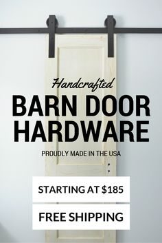 We offer the highest quality hand crafted Barn Door Hardware available.