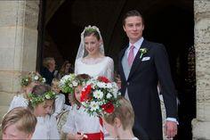 parismatch:  Wedding of Countess Caroline von Neipperg and Count Philippe de Limburg Stirum in Saint-Émilion, France, May 23, 2015