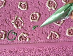 Modify Use of the mat for further 3D embellishment Claire Bowman 3D Cake Lace Mat - MADAME BUTTERFLY.  ONE