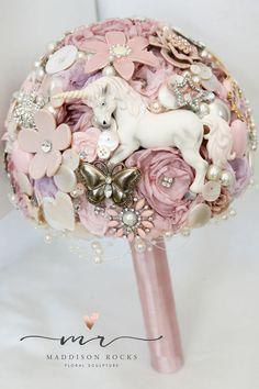 Unicorn Fairytale Themed Alternative Brides posy brooch bouquet £90.00