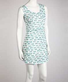 Take a look at this Blue Glasses Tank Dress by Tasha Apparel on #zulily today!