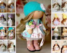 Handmade doll Interior doll Soft doll Textile doll Fabric doll