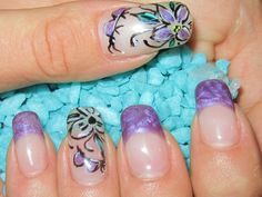 simple flower nails