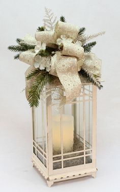 The Grainery: Indiana Garden Center and Florist Christmas Lanterns, Christmas Centerpieces, Christmas Love, Rustic Christmas, Xmas Decorations, Winter Christmas, Christmas Wreaths, White Lanterns, Lanterns Decor