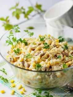 kukurydzy Healthy Dinner Recipes, Vegan Recipes, Appetisers, Fried Rice, Macaroni And Cheese, Good Food, Food And Drink, Favorite Recipes, Lunch