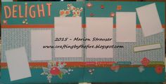 Delightful scrapbooking layout using papers from the Blossom paper pack by Close to My Heart