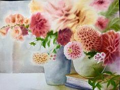 Paintings, Throw Pillows, Bed, Toss Pillows, Paint, Stream Bed, Painting Art, Decorative Pillows, Decor Pillows