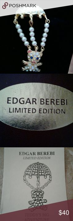 Limited edition brooch Teddy brooch pin limited edition brand new in box Edgar berebi Jewelry Brooches