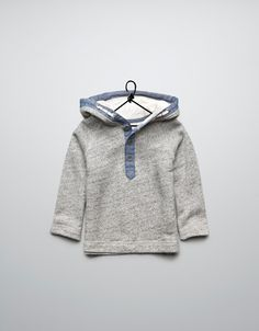 jumper with denim edging - Cardigans and sweaters - Baby boy (3-36 months) - Kids - ZARA United States
