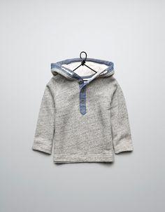 jumper with denim edging - Cardigans and sweaters - Baby boy (3-36 months) - Kids - ZARA