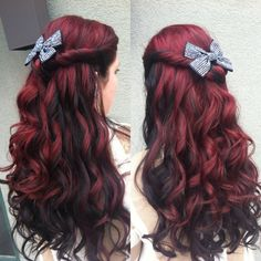 Vivid red with black shadow color #hair #redombre #shadowcolor