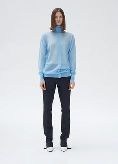 Fitted trousers in light weight stretch - Céline